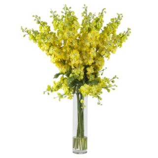 nearly natural Liquid Illusion Silk Delphinium Floral Arrangement