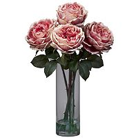 nearly natural Liquid Illusion Silk Fancy Rose Floral Arrangement