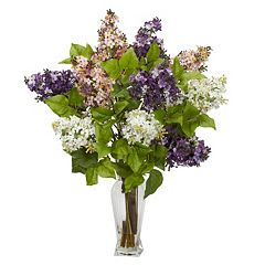 nearly natural Liquid Illusion Silk Lilac Floral Arrangement