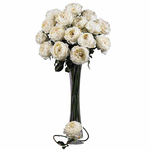 nearly natural 12-pc. Silk Large Rose Stem Set