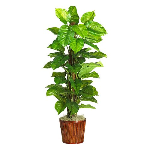 nearly natural 63-in. Real Touch Silk Large Leaf Philodendron Plant