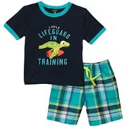 Carter's Lifeguard in Training Tee and Plaid Shorts Set - Toddler