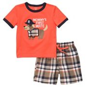 Carter's Mommy's First Mate Tee and Plaid Shorts Set - Toddler
