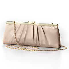 Gunne Sax by Jessica McClintock® Pleated Satin Convertible Clutch