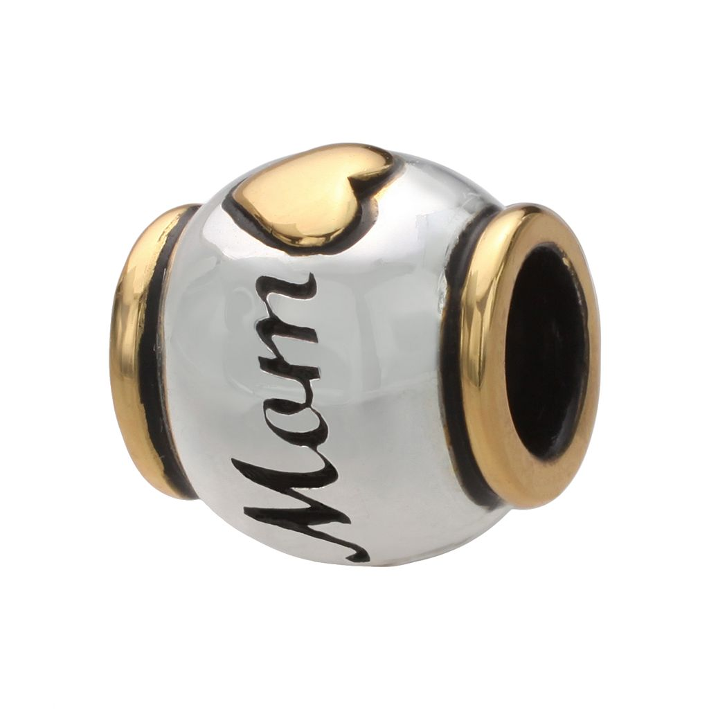 Individuality Beads 24k Gold Over Silver & Sterling Silver Mom Bead