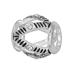 Individuality Beads Sterling Silver Crystal Openwork Bead