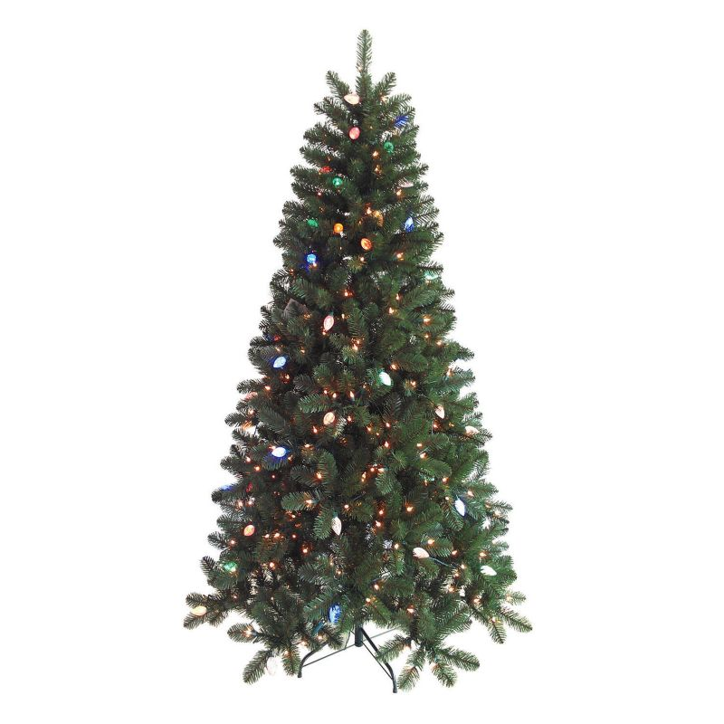 St. Nicholas Square 7-ft. Pre-Lit Color-Changing Christmas Tree - Indoor