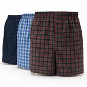 Big & Tall Hanes 3 pkPlaid Boxers