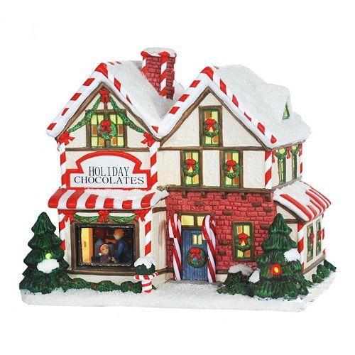 St Nicholas Christmas Village.St Nicholas Square Village Collection Holiday Chocolates