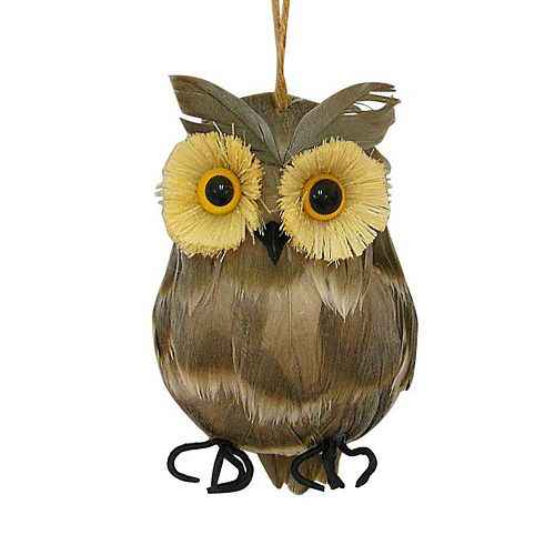 St Nicholas Square Feathered Owl Christmas Ornament