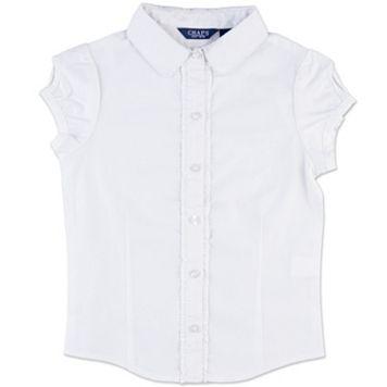 Girls 8-16 Chaps Ruffled Woven School Uniform Shirt