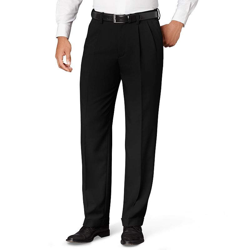 Van Heusen Classic-Fit No-Iron Pleated Dress Pants - Big and Tall