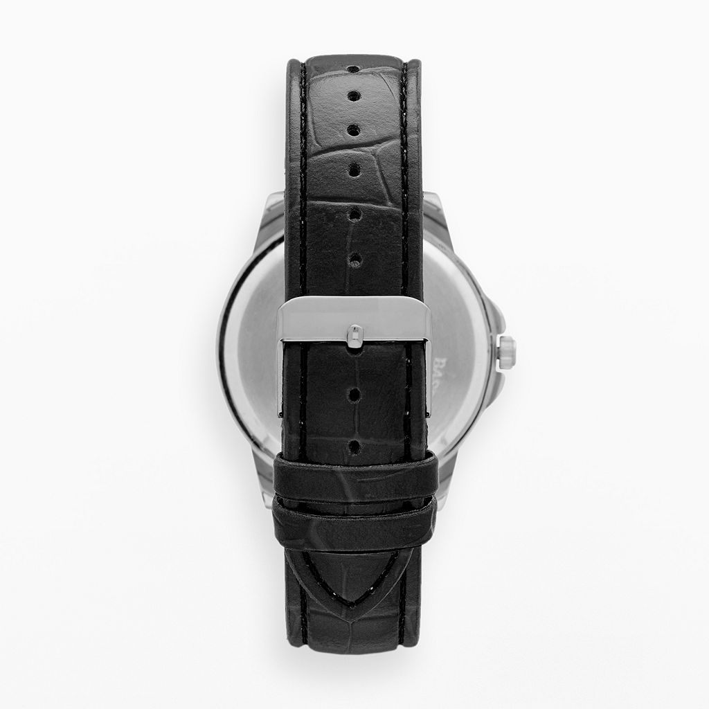 Men's Faux Leather Watch
