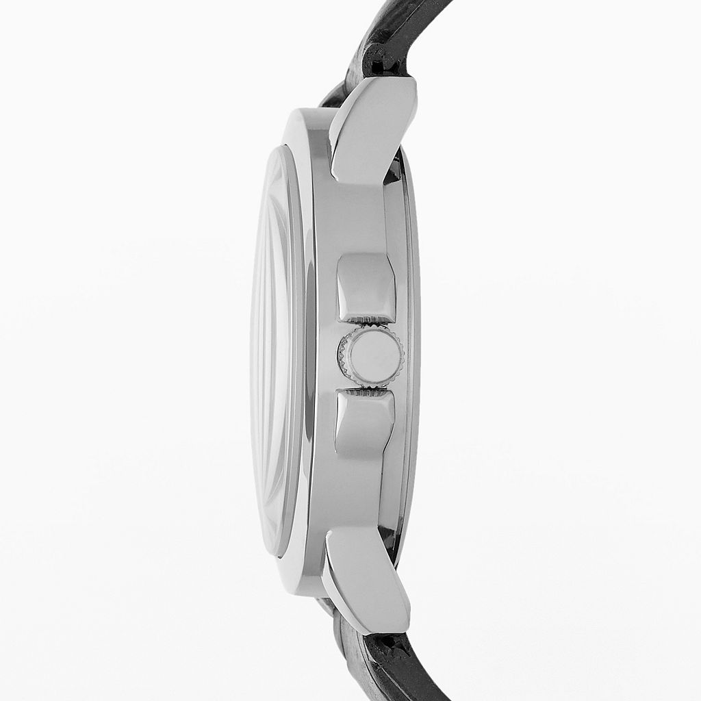 Men's Faux Leather Watch