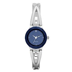Women's Crisscross Half Bangle Watch