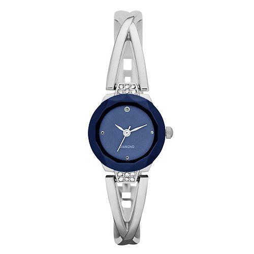 Women's Crisscross Half Bangle Watch