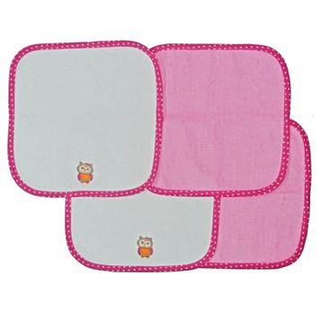 Neat Solutions 4-pk. Owl Washcloths