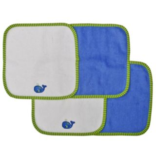 Neat Solutions 4-pk. Whale Washcloths