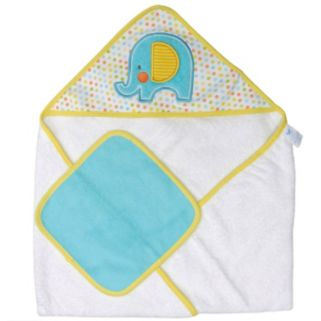 Neat Solutions Elephant Hooded Towel and Washcloth Set