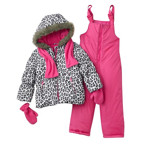 5e7146dc57ca Carter s 5-pc. Cheetah Jacket   Bib Snow Pants Set - Girls 4-6x