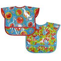 Sesame Street 2-pk. Easy-Wipe Bibs