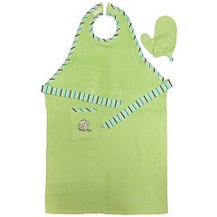 Neat Solutions Stay-Dry Bath Apron & Towel Green by
