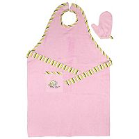 Neat Solutions Stay-Dry Bath Apron & Towel - Pink