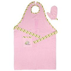 Neat Solutions Stay-Dry Bath Apron & Towel Pink by