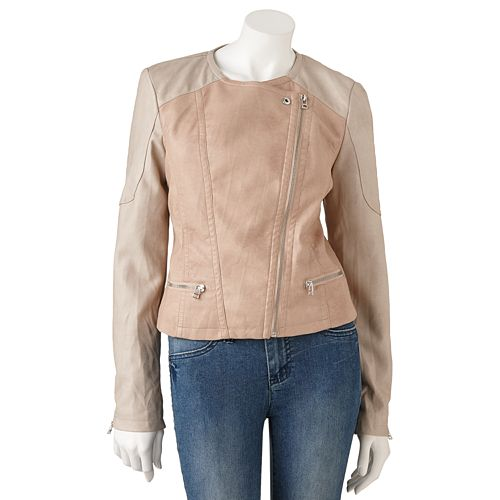 Candie's® Faux-Leather Moto Jacket - Juniors