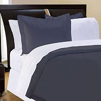 Pointehaven Solid 400-Thread Count Pima Cotton Sateen 3-pc. Duvet Cover Set - Full/Queen