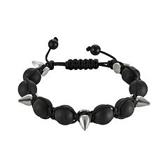 Stainless Steel Hematite Bead Slipknot Bracelet - Men