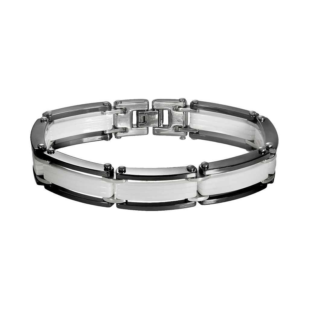 Black & White Ceramic Bracelet - Men