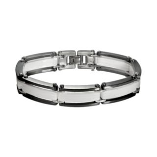 Black and White Ceramic Bracelet - Men