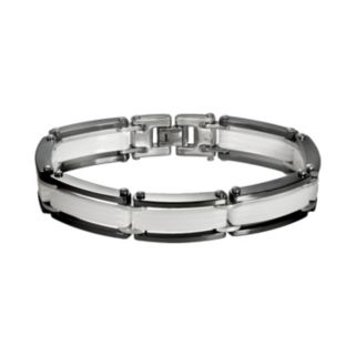Black and White Ceramic Bracelet - Men