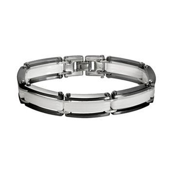Black & White Ceramic Bracelet - Men