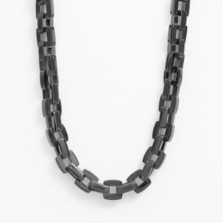 Black Immersion-Plated Stainless Steel Necklace - Men