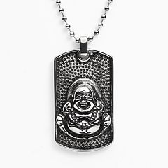 Stainless Steel Buddha Dog Tag - Men