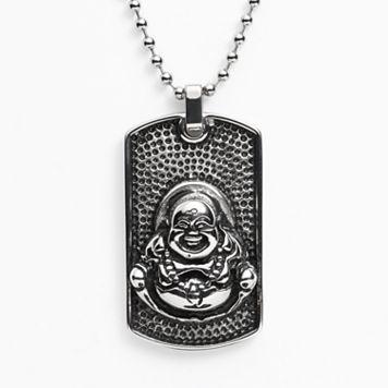 Stainless Steel Buddha Dog Tag - Men