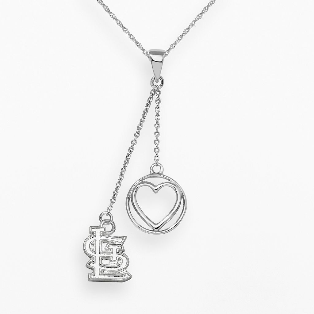 LogoArt St. Louis Cardinals Beloved Sterling Silver Linear Pendant