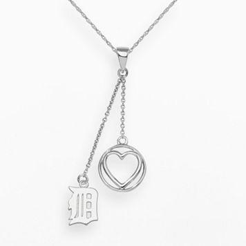 LogoArt Detroit Tigers Beloved Sterling Silver Linear Pendant