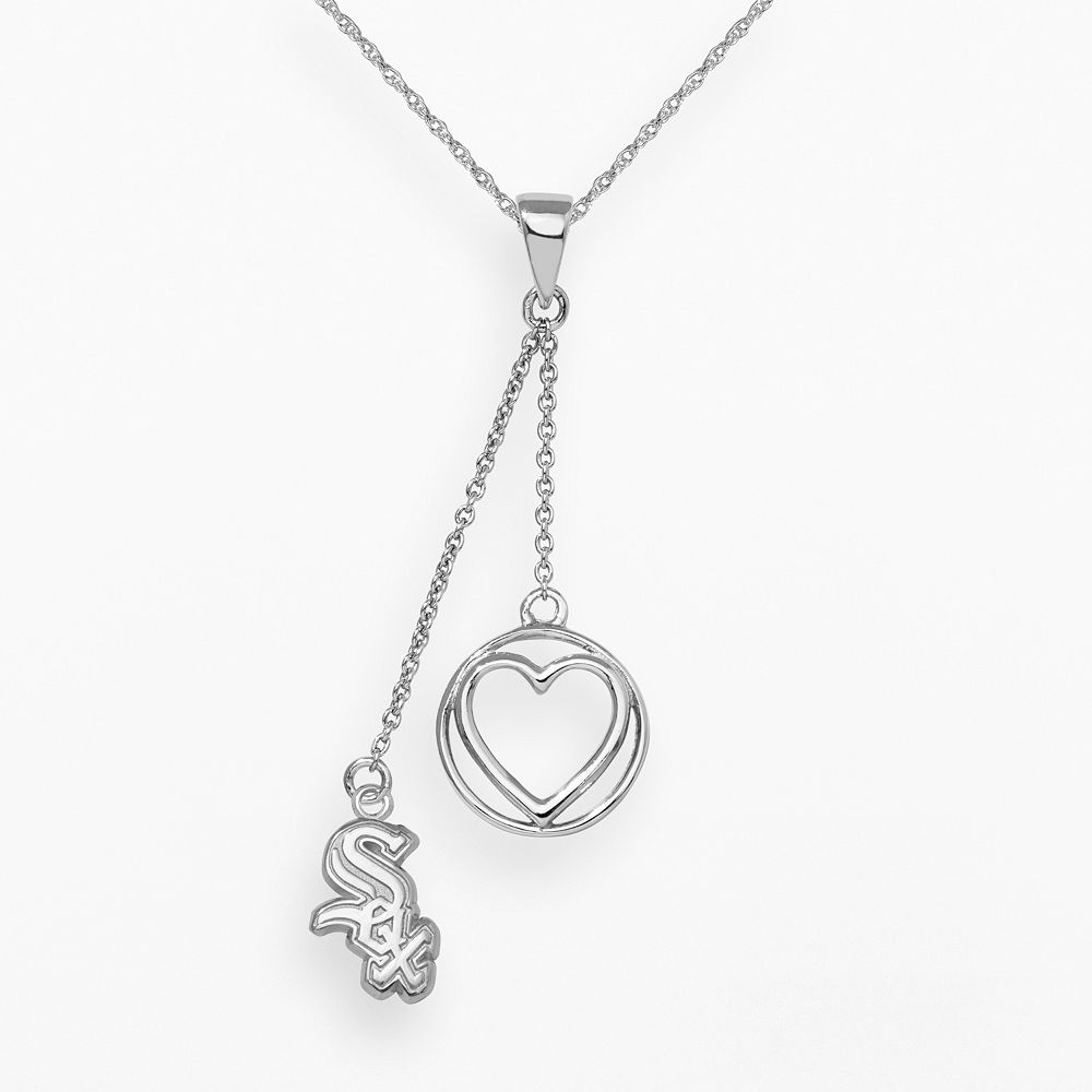 LogoArt Chicago White Sox Beloved Sterling Silver Linear Pendant