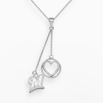 LogoArt Milwaukee Brewers Beloved Sterling Silver Linear Pendant