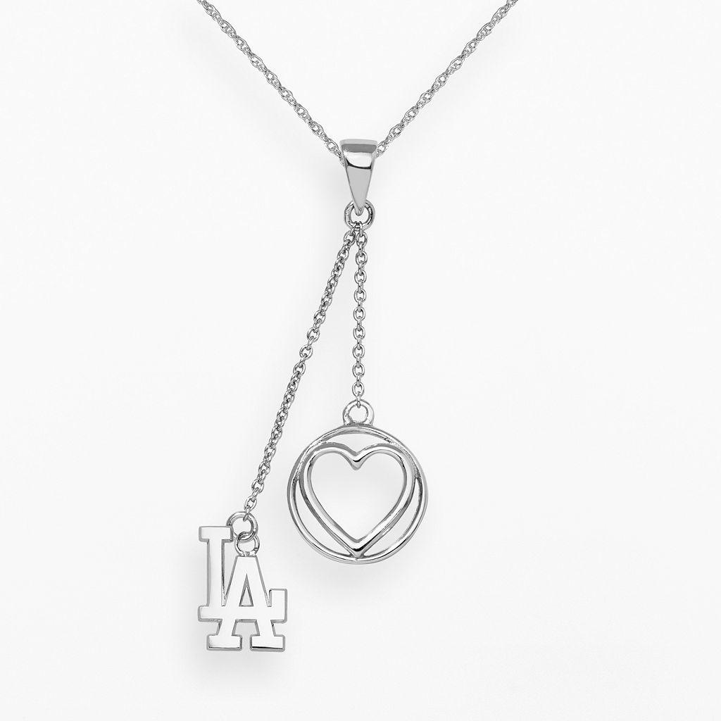 LogoArt Los Angeles Dodgers Beloved Sterling Silver Linear Pendant