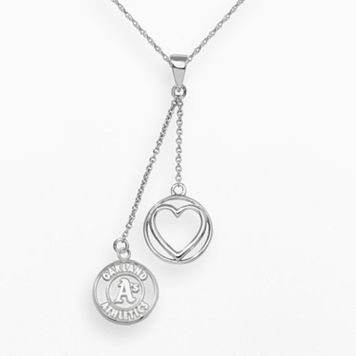 Oakland Athletics Beloved Sterling Silver Linear Pendant
