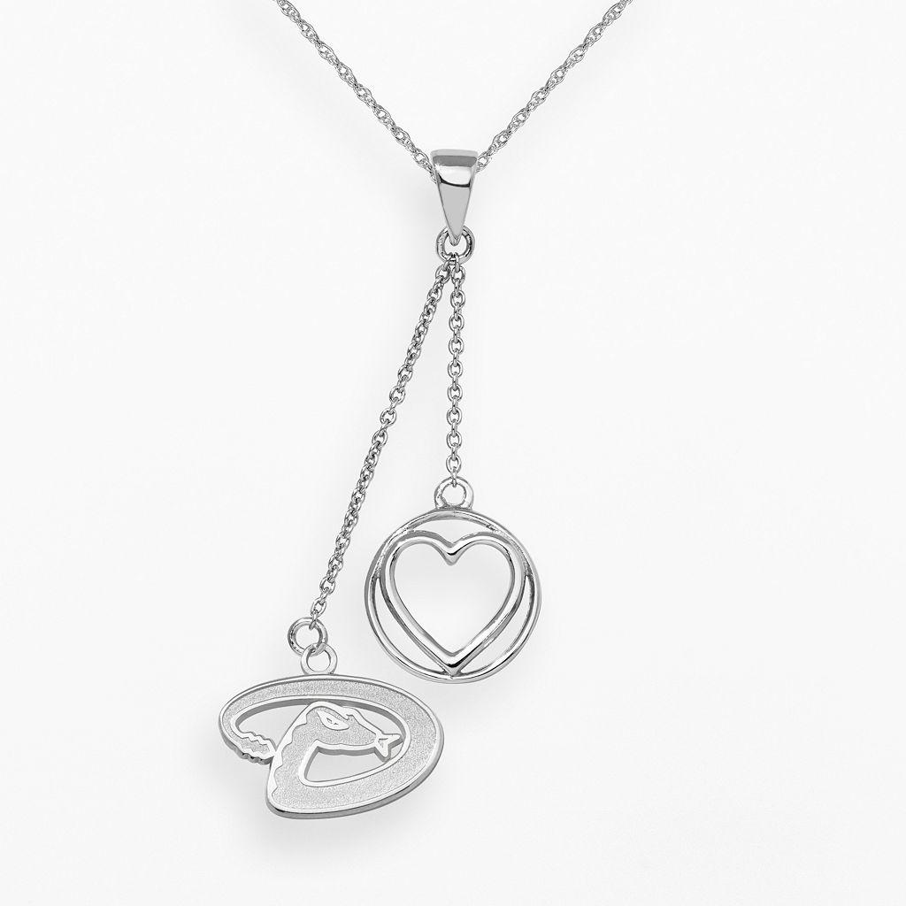 LogoArt Arizona Diamondbacks Beloved Sterling Silver Linear Pendant