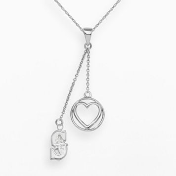 LogoArt Seattle Mariners Beloved Sterling Silver Linear Pendant