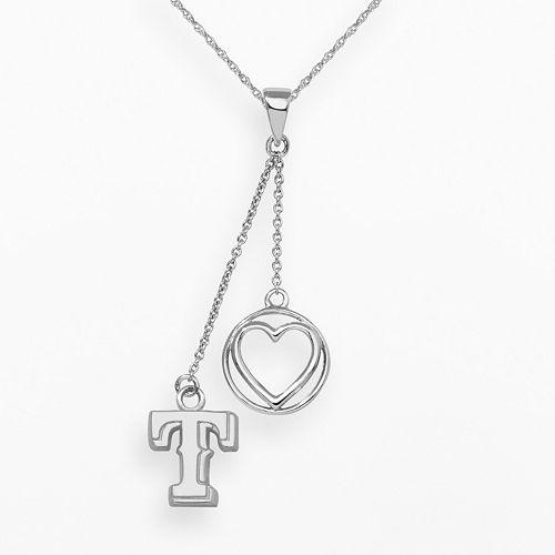 LogoArt Texas Rangers Beloved Sterling Silver Linear Pendant