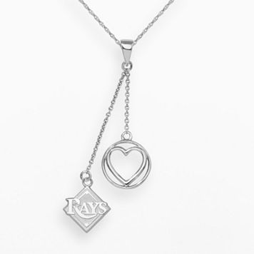 LogoArt Tampa Bay Rays Beloved Sterling Silver Linear Pendant