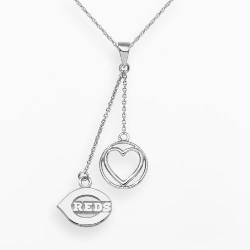 LogoArt Cincinnati Reds Beloved Sterling Silver Linear Pendant