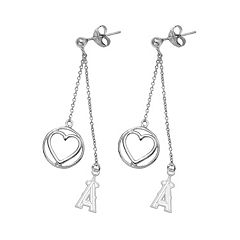 Los Angeles Angels of Anaheim Beloved Sterling Silver Linear Drop Earrings